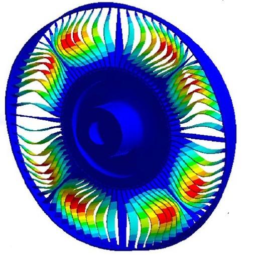 完备的分析功能 以结构力学分析为主,涵盖线性、非线性、静力、动力、疲劳、断裂、复合材料、优化设计、概率设计、热及热结构耦合、压电等分析中几乎所有的功能。  气动载荷作用下飞机整机强度分析  使用铰接、弹簧和接触功能 快速求解大型模型能力 ANSYS结构求解加入了并行算法来加快求解速度:整个求解过程采用并行处理,包括刚度矩阵生成,线性方程组求解和结果计算都采用并行处理。 并且提供基于GPU的独特技术。该技术与并行计算结合可以进一步提高计算速度。 具有出色的加速比,能在数百个处理器上实现万亿次浮点计算。另外,